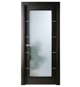 Avanti Vetro Interior Door w/ Black Apricot Finish & Frosted Glass