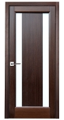 Stella Glass Interior Door Wenge Finish