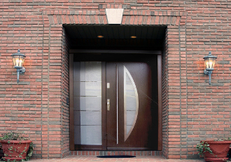Model 046 custom meranti wood exterior door modern home luxury - Modern home luxury doors ...