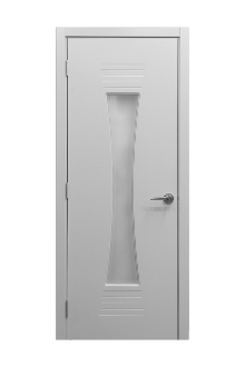 Euro61 White Ash Laminate Modern Interior Door W Frosted