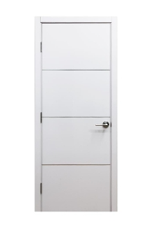 Hg008 White Gloss Laminate Modern Interior Door W