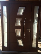 Model 059 Custom Meranti Wood Exterior Door