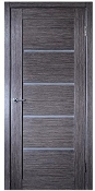 Venice Glass Modern Interior Door Grey Oak Finish