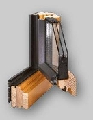 Gemini Linear Wood/Aluminum Tilt and Turn Window