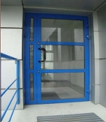 Aluminum Balcony / Patio / Entrance Doors