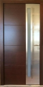 Model 000 Wenge Meranti Wood Exterior Door