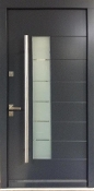Model 006 Anthracite Grey Meranti Wood Exterior Door