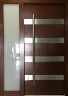 Model 019 Modern Wenge Wood Exterior Door W Side Panel