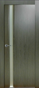 """Valencia"" Modern Interior Door Graphite Finish w/Frosted Glass"