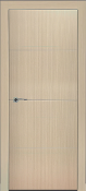 """Madrid"" Bleached Oak Modern Interior Door w/Aluminum Strips"
