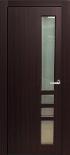 """Verona"" Modern Interior Door Mahogany Finish w/Frosted Glass"