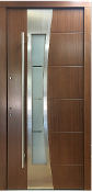 Model 037 Modern In Stock Nut Finish Exterior Door