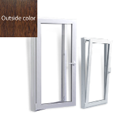 "W 32"" x H 24""  PVC Tilt and Turn Window with Color on Outside"