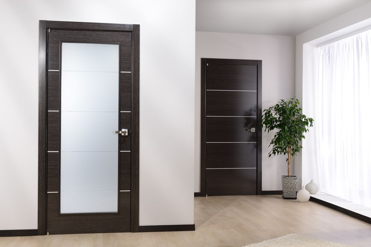 Modern White Interior Doors modern home luxury - avanti vetro modern interior door black