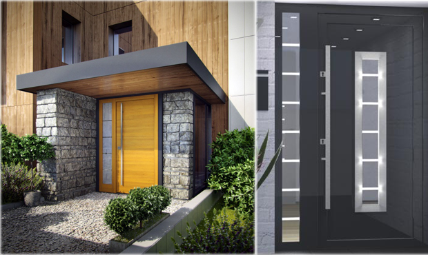 Custom Meranti Wood Exterior Doors - Modern Home Luxury