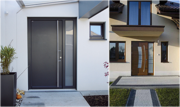 Modern Exterior Doors meranti wood exterior doors | in stock - modern home luxury