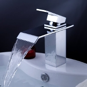modern bathroom faucets. modern bathroom faucets kitchens led glass waterfall  Modern Home Luxury LED Thermal Glass Waterfall Bathroom Sink Faucets