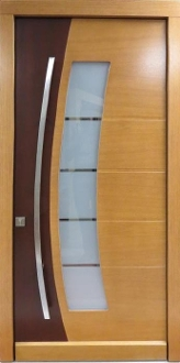Model 007 Contemporary Dual Finish Wood Exterior Door