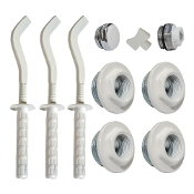 Cap & Brackets Set For Hydronic Radiator Installation (9 pcs.)