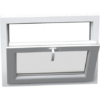 "W 48"" x H 24"" PVC Hopper / Tilt Window"