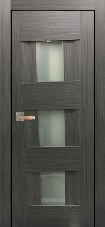 """Vetro Lux"" Grey Ash Interior Door with Frosted Glass"