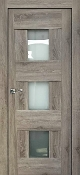 """Vetro Lux"" Grey Oak Interior Door with Frosted Glass"