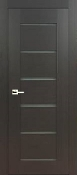 """Delux"" Dark Wenge Modern Interior Door with Frosted Glass"