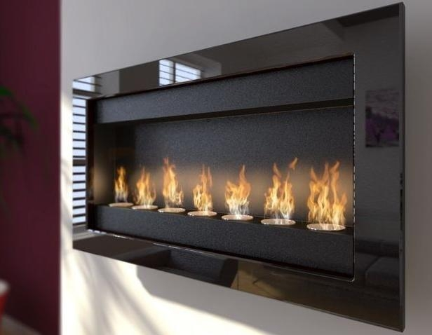 NOLITA Modern Ventless Wall Mount Ethanol Fireplace